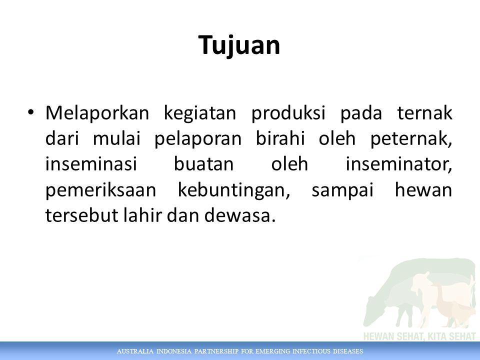 AUSTRALIA INDONESIA PARTNERSHIP FOR EMERGING INFECTIOUS DISEASES Pengguna Petugas Inseminator Pemilik Ternak Petugas Dinas