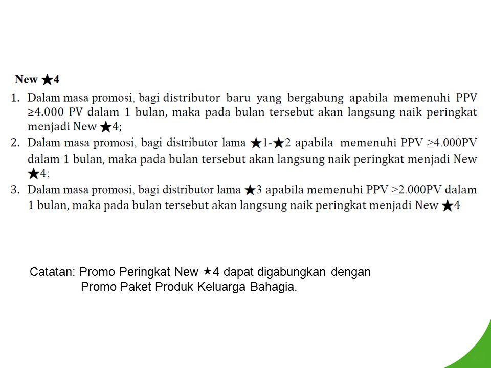 Catatan: Promo Peringkat New  4 dapat digabungkan dengan Promo Paket Produk Keluarga Bahagia.