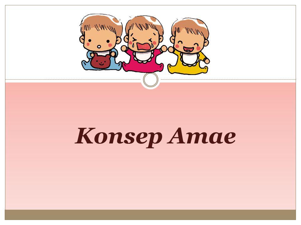 Amae dan relasi sosial Amae memainkan peranan penting dalam masyarakat berkelompok dimana individualisme tidak terlihat dan masyarakat lebih menyukai berkelompok untuk mendapatkan kekuatan.