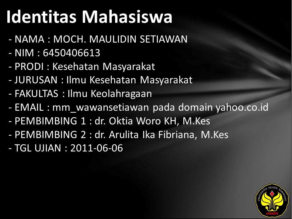 Identitas Mahasiswa - NAMA : MOCH.