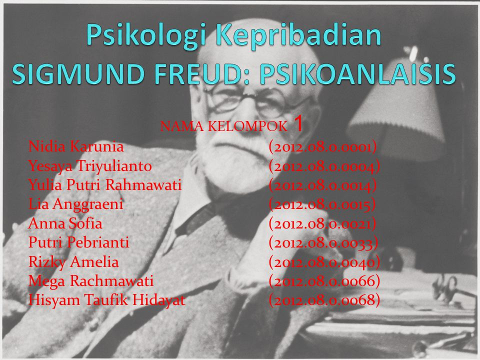 LATAR BELAKANG Menurut Freud, kehidupan jiwa memiliki tiga tingkat kesadaran, yakni sadar (conscious), prasadar (preconscious), dan tak sadar (unconscious).