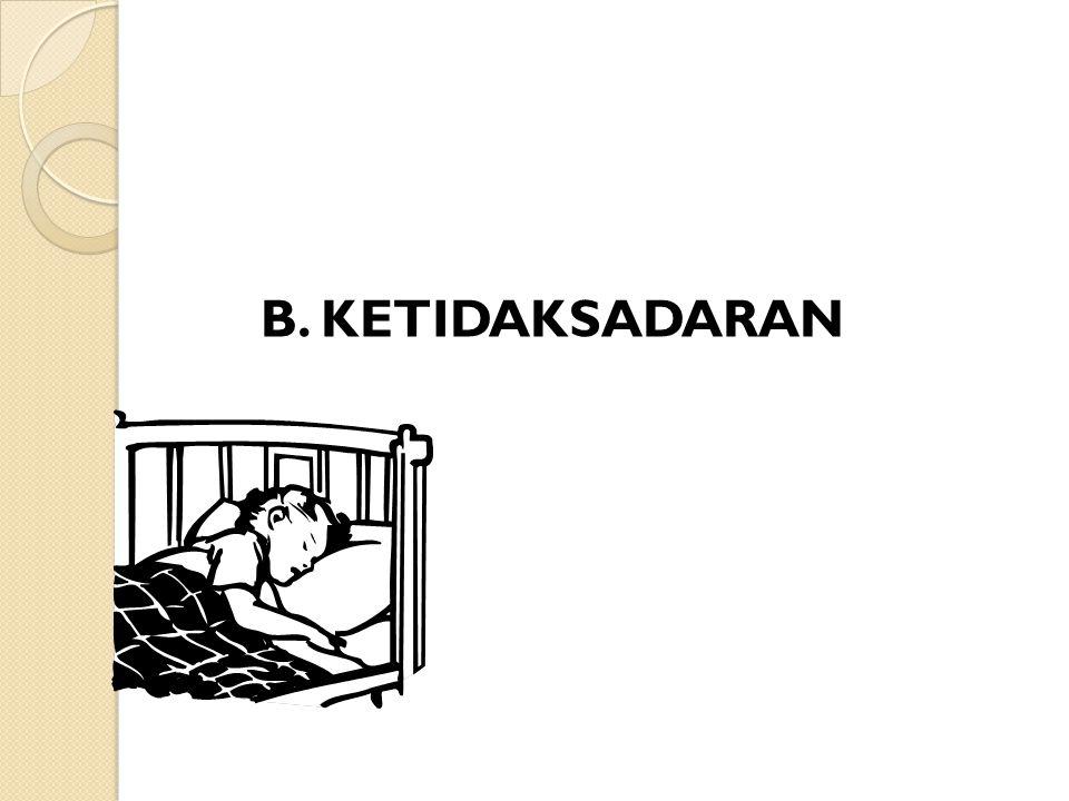 B. KETIDAKSADARAN