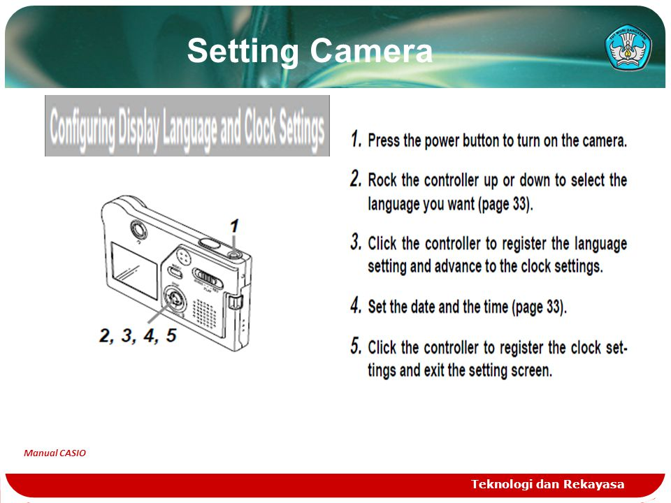 Setting Camera Teknologi dan Rekayasa Manual CASIO