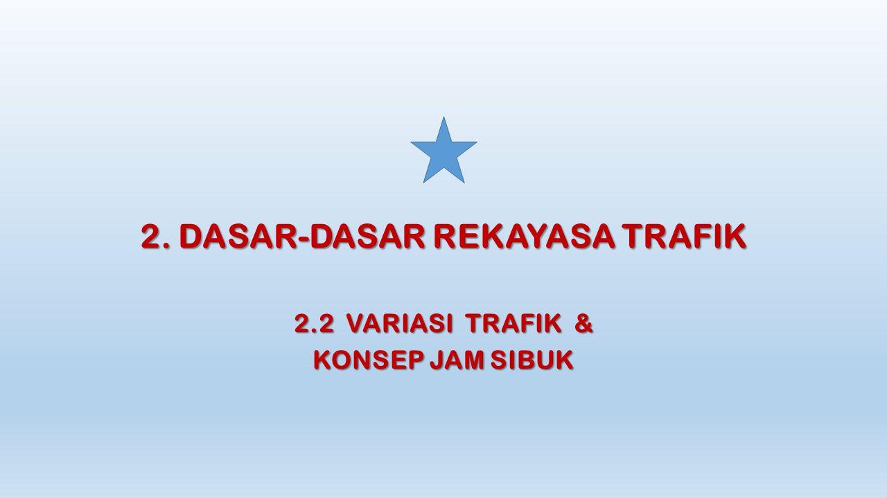 2. DASAR-DASAR REKAYASA TRAFIK 2.2 VARIASI TRAFIK & KONSEP JAM SIBUK