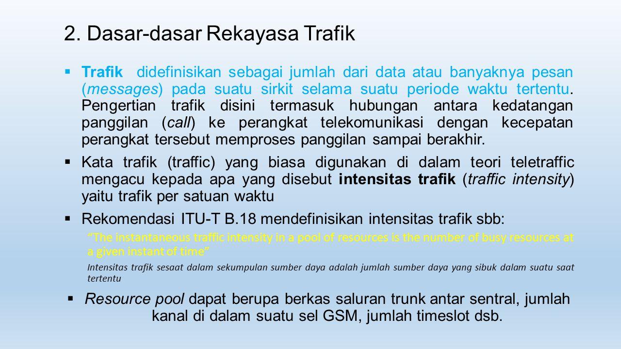  Trafik didefinisikan sebagai jumlah dari data atau banyaknya pesan (messages) pada suatu sirkit selama suatu periode waktu tertentu. Pengertian traf