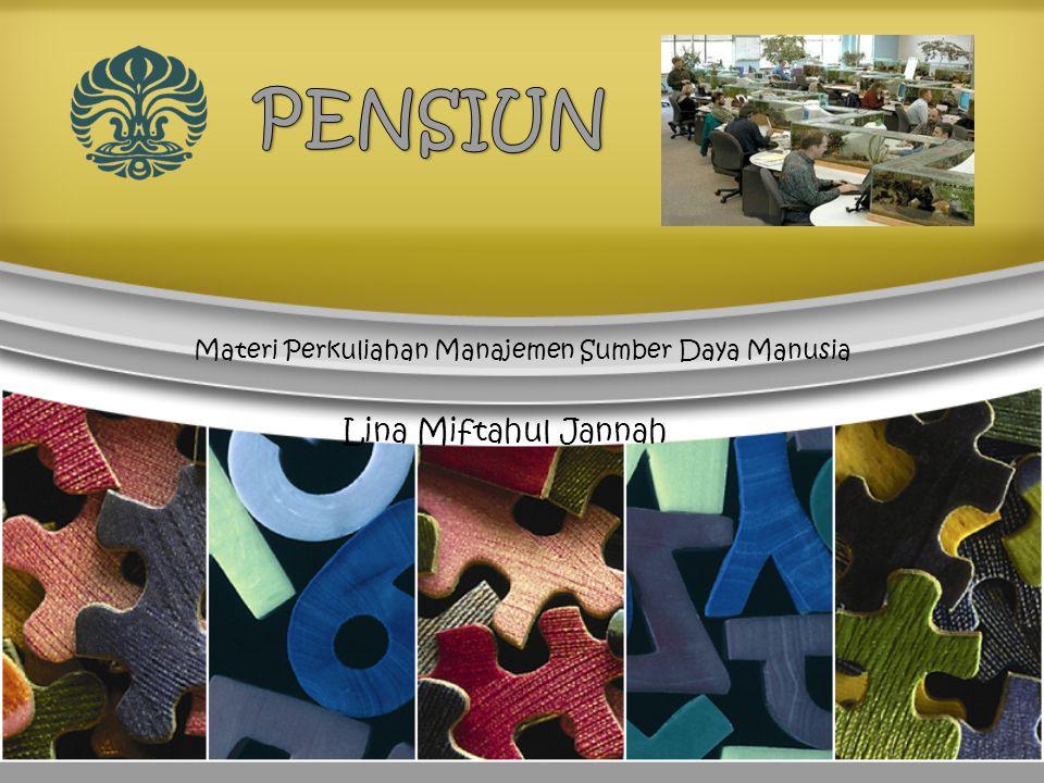 Dimanakah letak pensiun dalam MSDM?