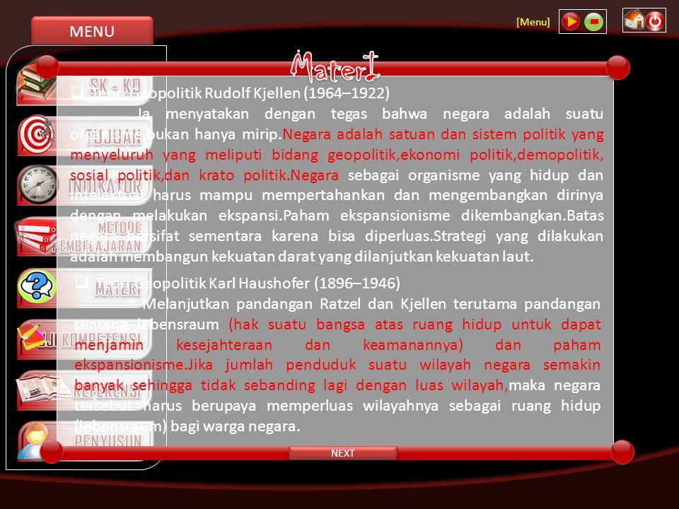 MENU [Menu] CLOSE Keunggulan Negara Kesatuan Republik Indonesia 1.