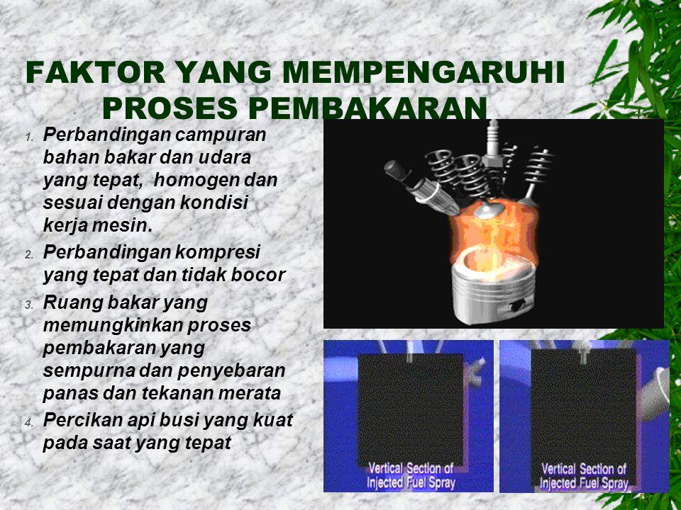 FAKTOR YANG MEMPENGARUHI PROSES PEMBAKARAN 1.