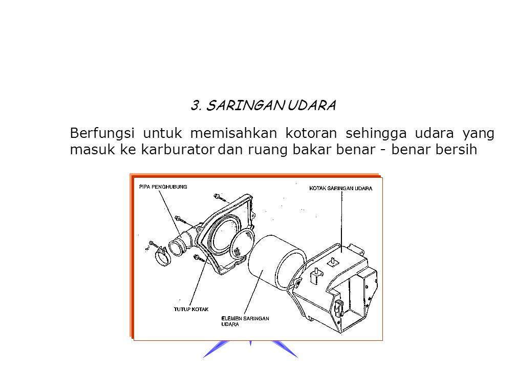 TUTUP TANGKI BERFUNGSI UNTUK Mencegah debu dan kotoran masuk ke dalam tangki Mencegah / menjaga agar bahan bakar tidak tumpah /keluar dari tangki Seba