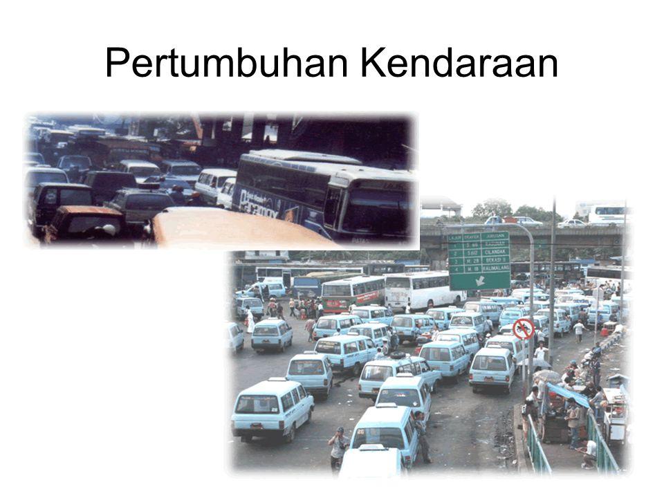Jumlah kendaraan di Indonesia mulai tahun 1990-1999 (Tidak termasuk kendaraan ABRI dan CD )
