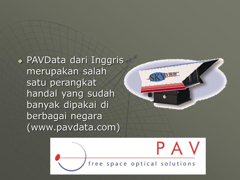  PAVData dari Inggris merupakan salah satu perangkat handal yang sudah banyak dipakai di berbagai negara (www.pavdata.com)