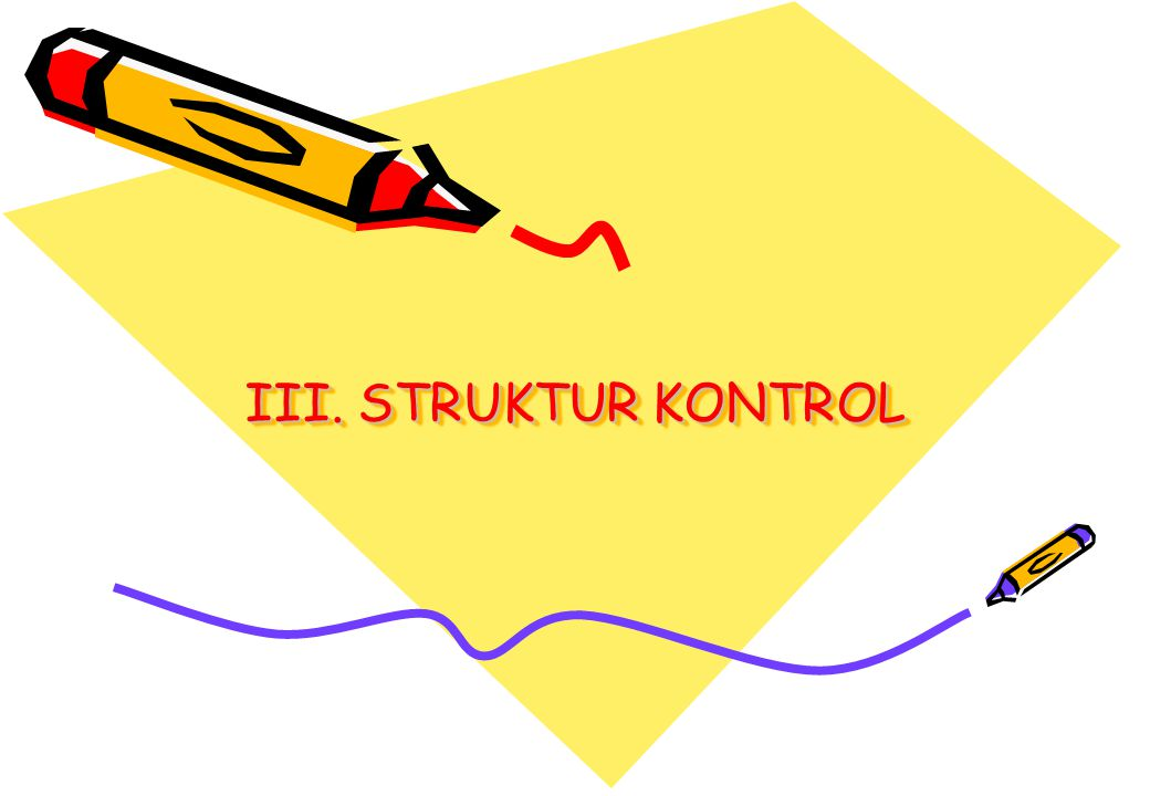 Algoritma & Pemrograman IStruktur Kontrol 22 Implementasi : #include void main() { char operator; scanf( %c ,&operator); switch (operator) { case '+' : printf( Penjumlahan ); break; case '-' : printf( Pengurangan ); break; case '/' : printf( Pembagian ); break; case '*' : printf( Perkalian ); break; }