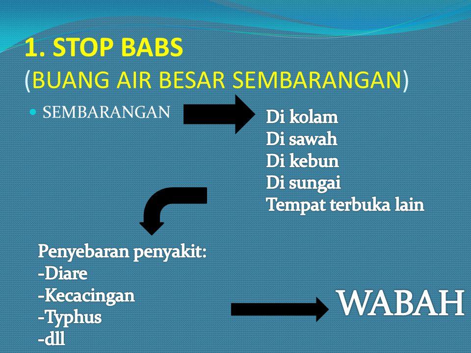 1. STOP BABS (BUANG AIR BESAR SEMBARANGAN) SEMBARANGAN