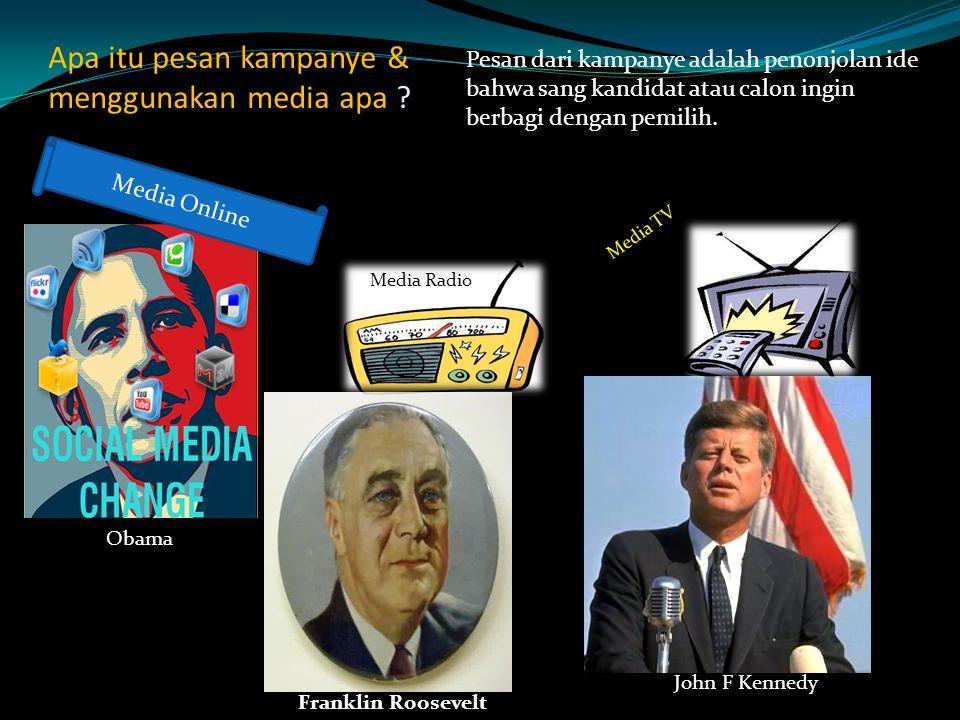 Apa itu pesan kampanye & menggunakan media apa .
