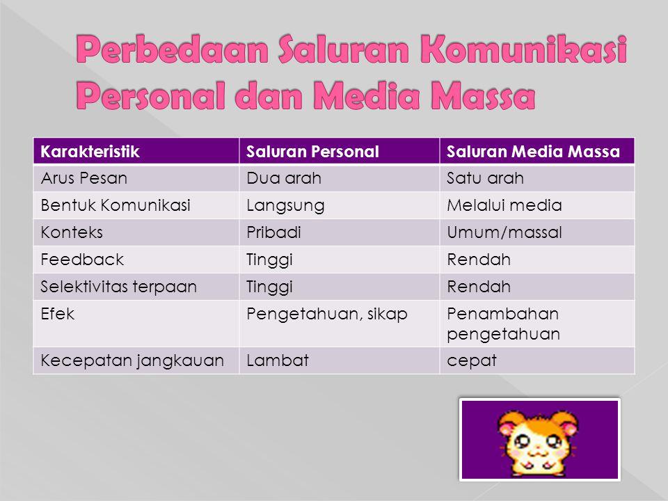 Pemilihan Media Pemilihan satu atau beberapa media komunikasi, dilakukan atas 2 pertimbangan: 1.Pertimbangan mengenai karakteristik media 2.Pertimbangan menyangkut kreatif (isi dan teknis penyajian pesan)