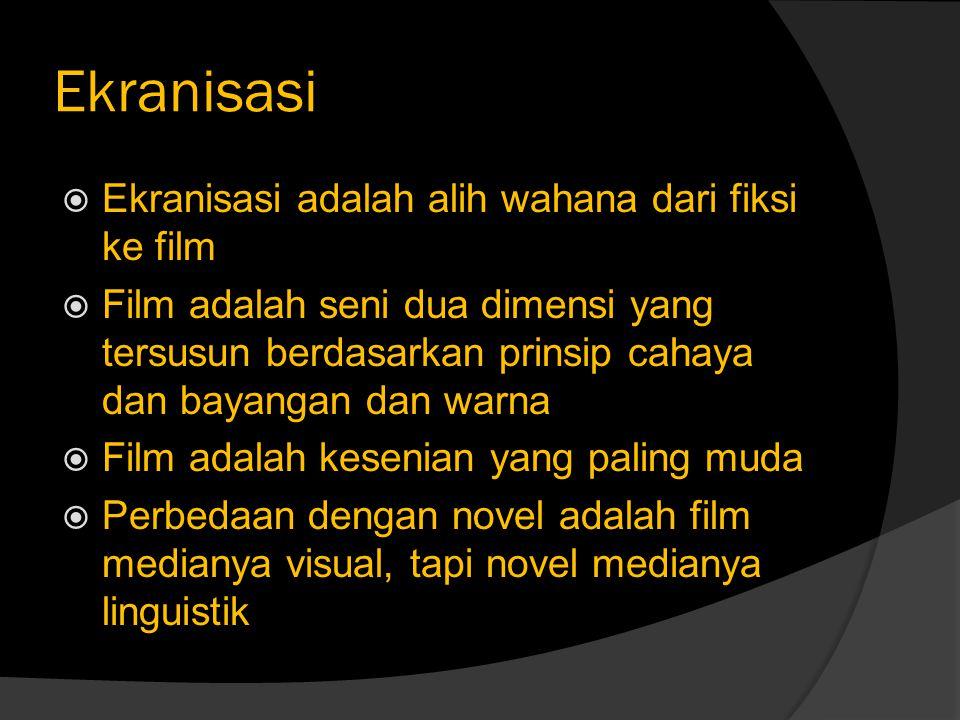 Novel # Film Novel Film  Kekuatan bahasa tulis adalah membuat kita mendengar, merasa dan terutama – melihat.