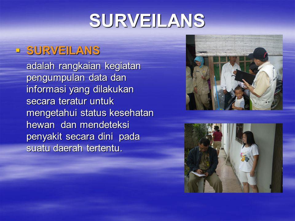 SURVEILANS ? ----- SURVEILANS = PENELUSURAN PENGERTIAN SURVEILANS