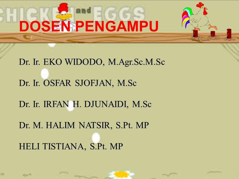 DOSEN PENGAMPU Dr. Ir. EKO WIDODO, M.Agr.Sc.M.Sc Dr. Ir. OSFAR SJOFJAN, M.Sc Dr. Ir. IRFAN H. DJUNAIDI, M.Sc Dr. M. HALIM NATSIR, S.Pt. MP HELI TISTIA