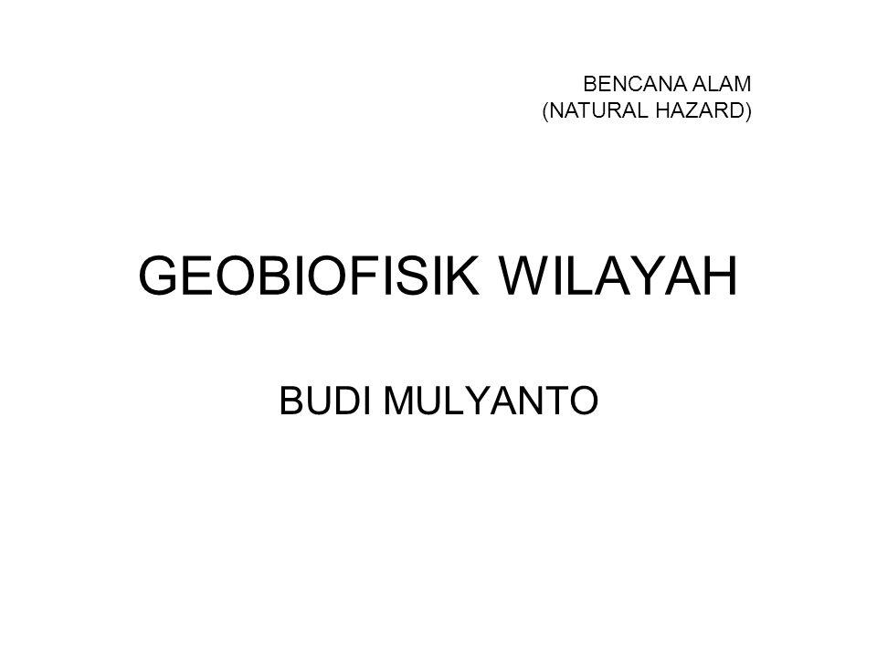 GEOBIOFISIK WILAYAH BUDI MULYANTO BENCANA ALAM (NATURAL HAZARD)