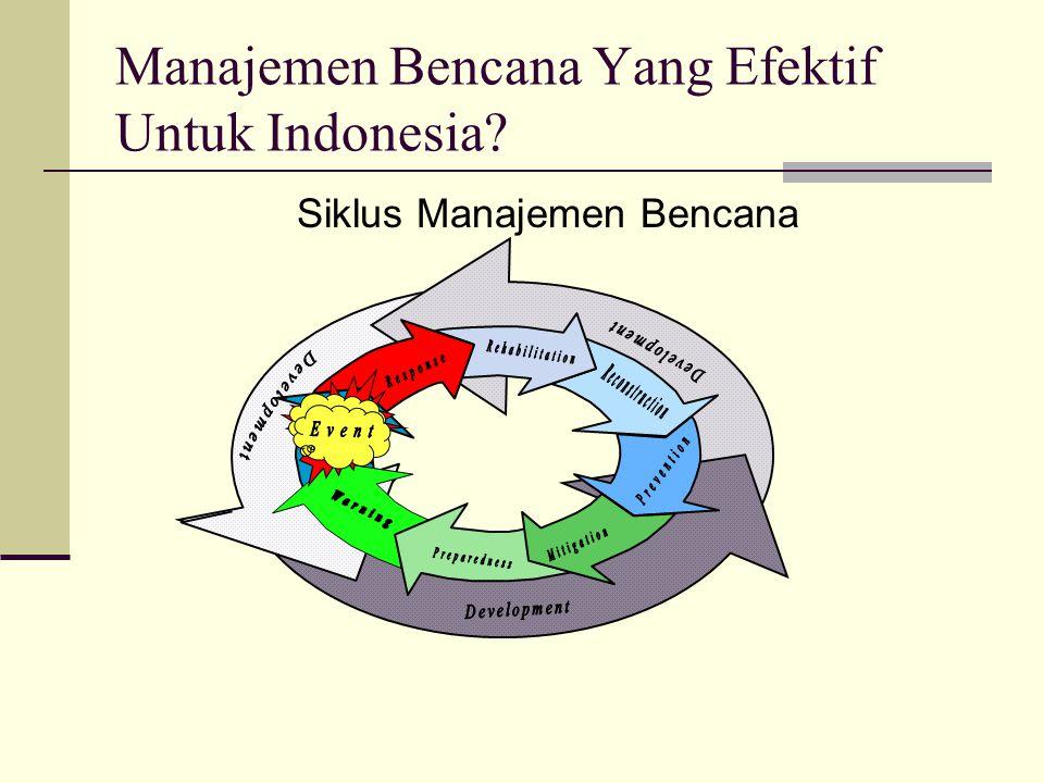 Manajemen Bencana Yang Efektif Untuk Indonesia? Siklus Manajemen Bencana