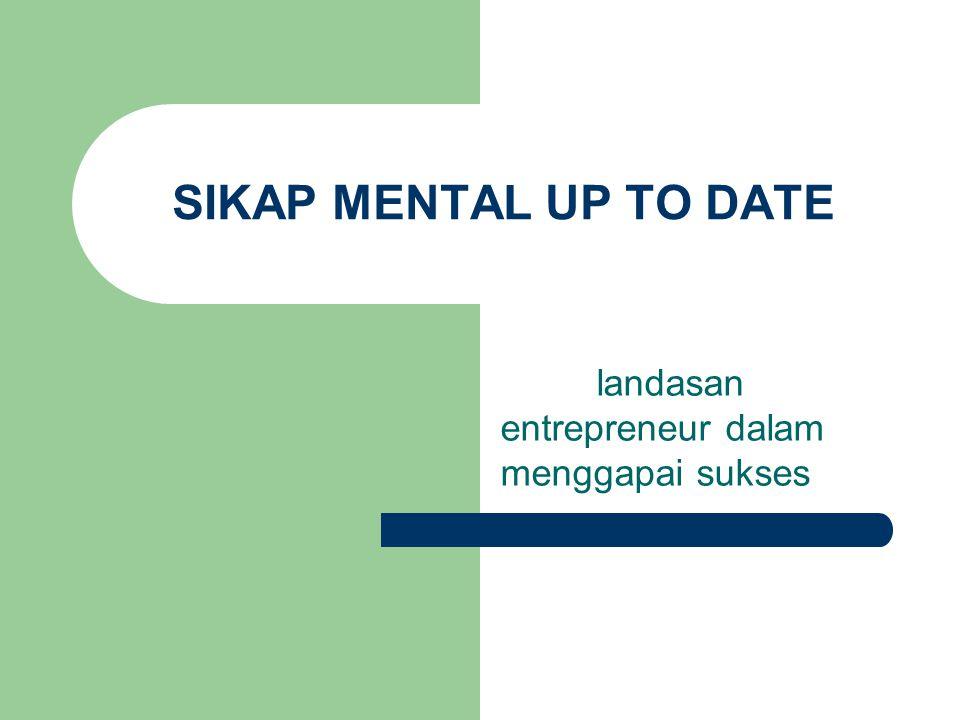 SIKAP MENTAL UP TO DATE landasan entrepreneur dalam menggapai sukses
