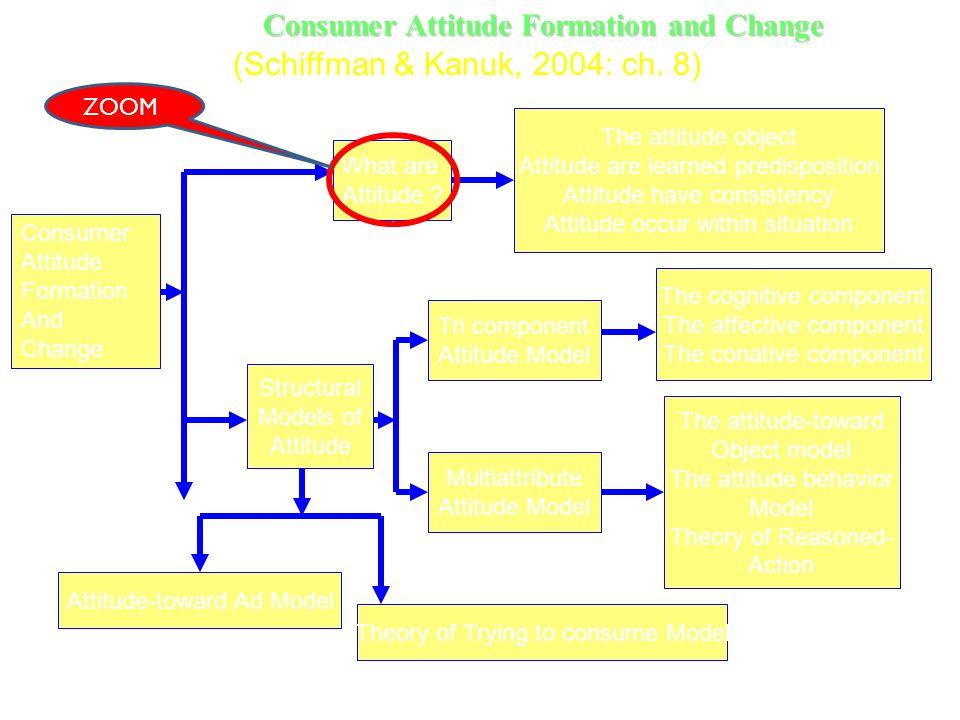 Consumer Attitude Formation and Change What are Attitude ? The attitude object Attitude are learned predisposition Attitude have consistency Attitude