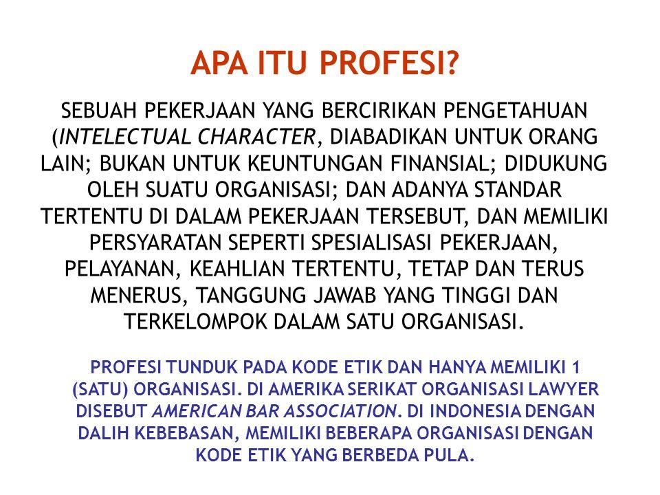 APA ITU PROFESI.