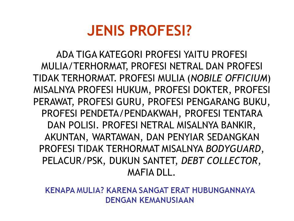 JENIS PROFESI.