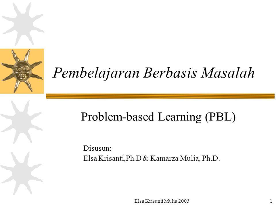 PBL adalah Pembelajaran Berbasis Masalah  dipicu permasalahan dalam konteks situasi dunia nyata  dilaksanakan dalam kelompok kecil.