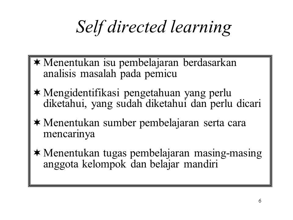  Menentukan isu pembelajaran berdasarkan analisis masalah pada pemicu  Mengidentifikasi pengetahuan yang perlu diketahui, yang sudah diketahui dan p