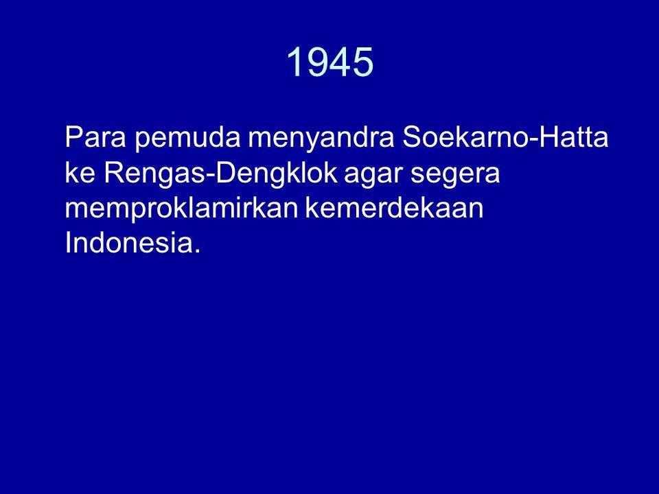 1965 Gerakan 30 September 1965.