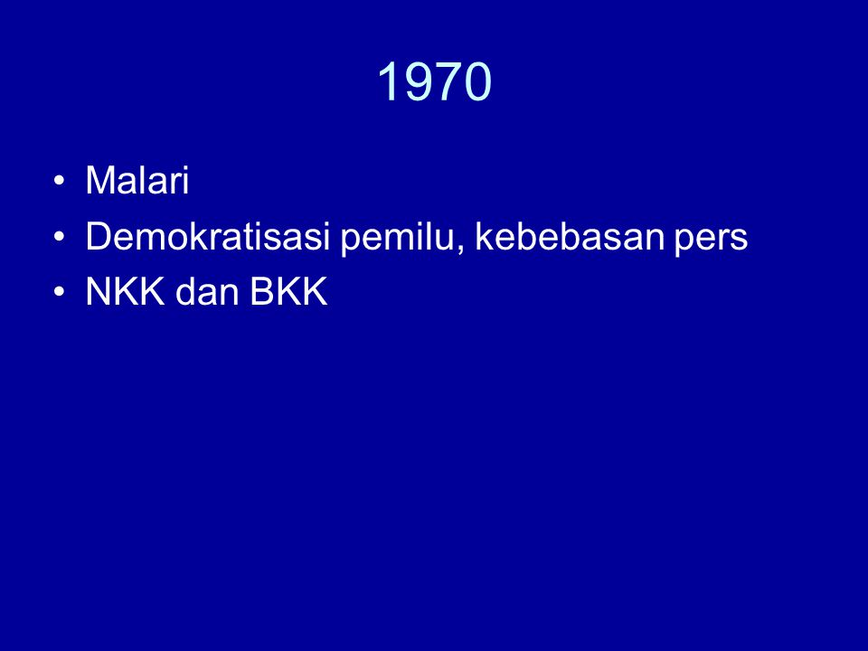 1970 Malari Demokratisasi pemilu, kebebasan pers NKK dan BKK