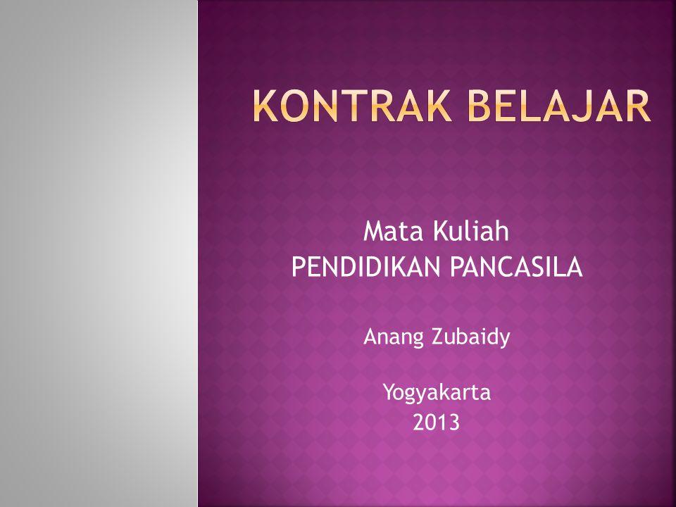 DATA DIRI  Nama: Anang Zubaidy  Alamat: Jl.Godean Km.