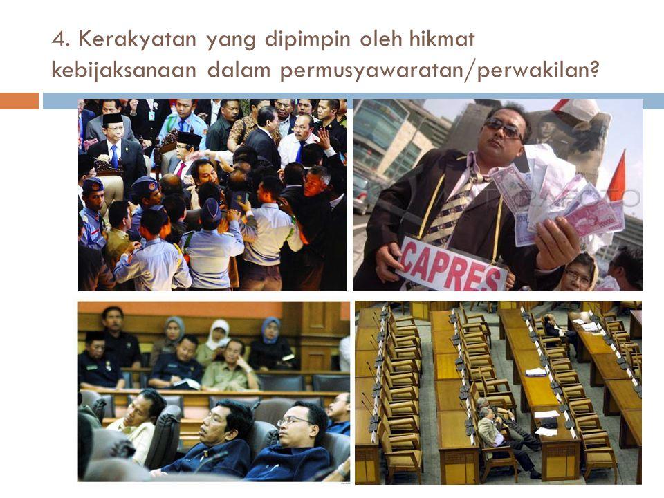 5. Keadilan sosial bagi seluruh rakyat Indonesia?