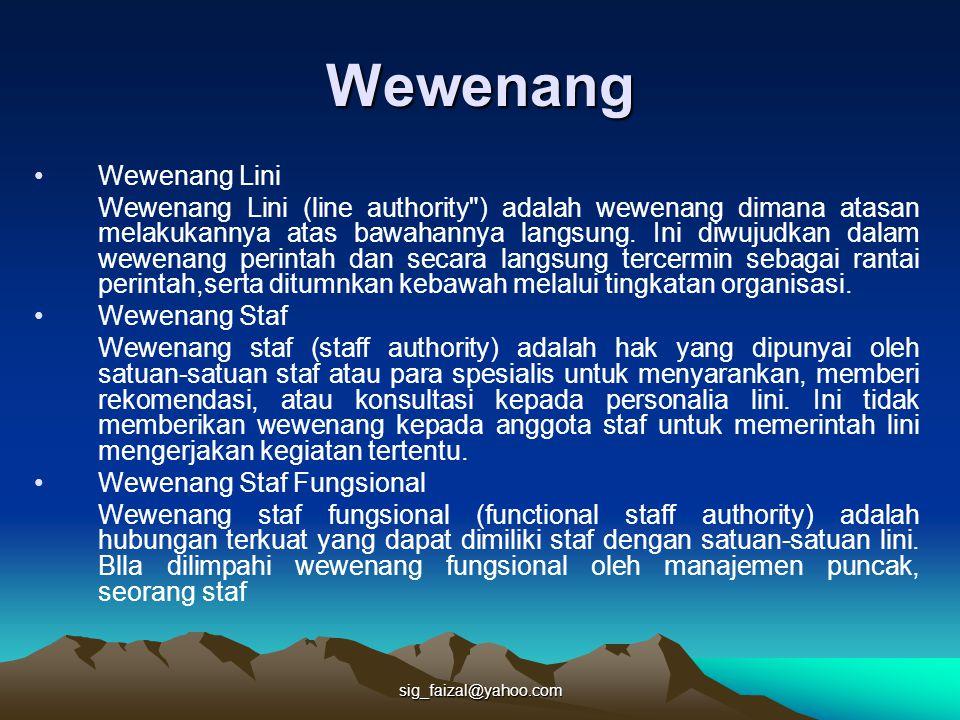sig_faizal@yahoo.com Wewenang Wewenang Lini Wewenang Lini (line authority