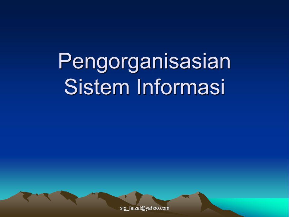 sig_faizal@yahoo.com Pengorganisasian Sistem Informasi