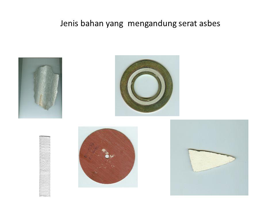 Jenis bahan yang mengandung serat asbes