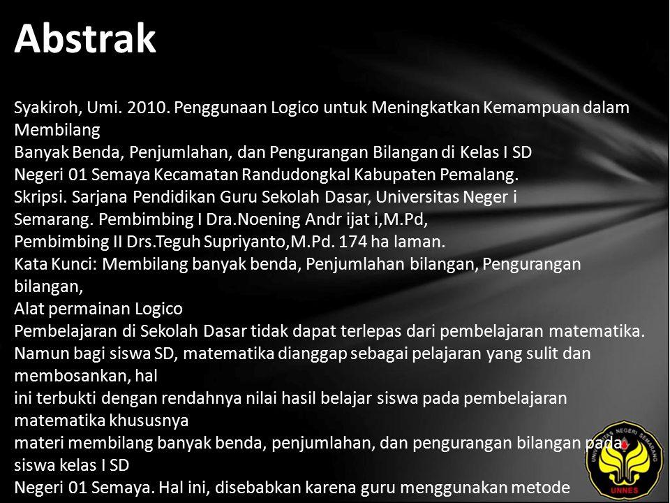 Abstrak Syakiroh, Umi.2010.