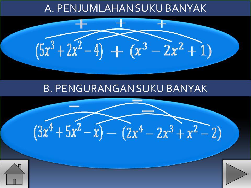 C. PERKALIAN SUKU BANYAK Dengan mengalikan setiap suku X X X