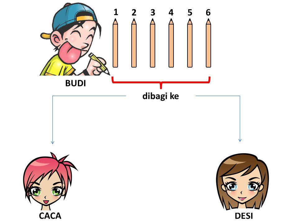 BUDI 1 23456 dibagi ke DESICACA