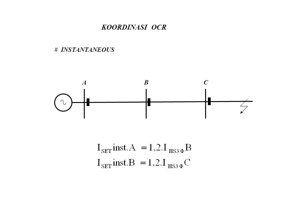 KOORDINASI OCR # INSTANTANEOUS ABC
