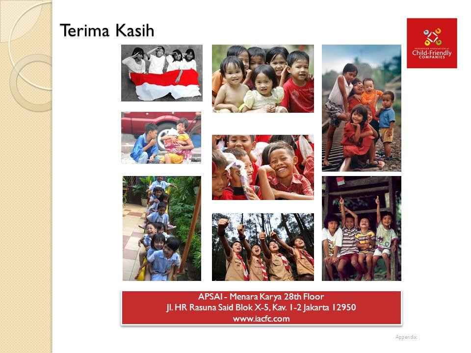 Terima Kasih APSAI - Menara Karya 28th Floor Jl. HR Rasuna Said Blok X-5, Kav. 1-2 Jakarta 12950 www.iacfc.com APSAI - Menara Karya 28th Floor Jl. HR