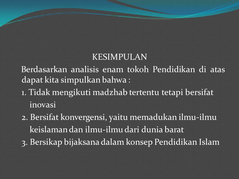 - Kurikulum 1. Berhubungan pengesaan Allah (Tauhid) 2.Berhubungan ma'rifat ilmu-ilmu Allah 3. Berhubungan dengan ma'rifat kekuasaan Allah 4. Berhubung
