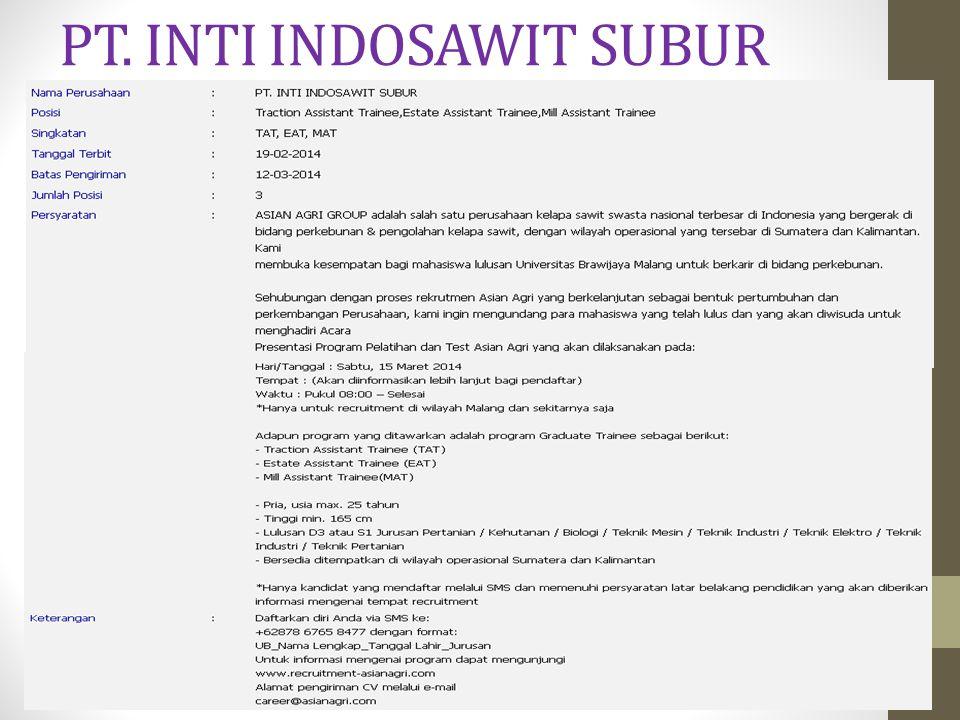 PT. INTI INDOSAWIT SUBUR