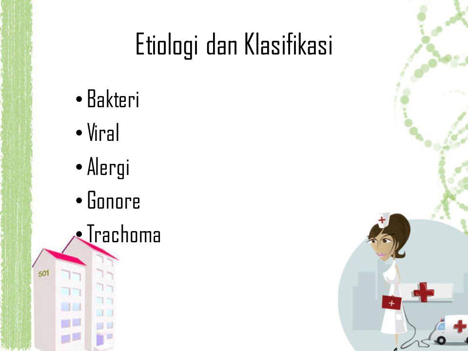 Etiologi dan Klasifikasi Bakteri Viral Alergi Gonore Trachoma