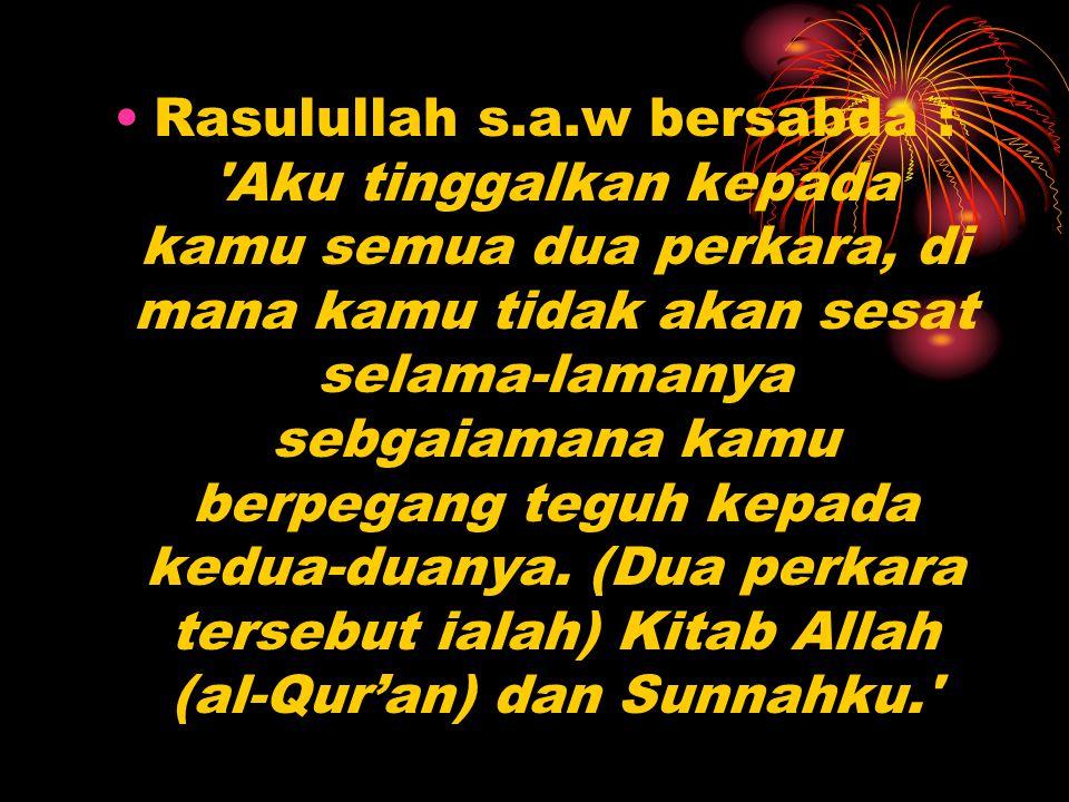 Pengertian Al-qur'an Al-qur'an secara bahasa adalah qiro'ah artinya bacaan secara istilah adalah Al-Qur an adalah kitab suci yang memuat firman-firman (wahyu) Allah, sama benar dengan yang disampaikan oleh Malaikat Jibril kepada Nabi Muhammad sebagai Rasul Allah sedikit demi sedikit selama 22 tahun 2 bulan 22 hari, mula-mula di Mekah kemudian di Madinah.