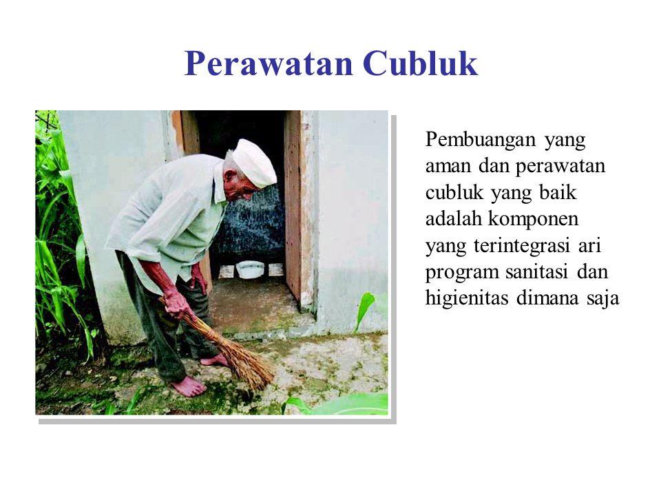 Perawatan Cubluk Pembuangan yang aman dan perawatan cubluk yang baik adalah komponen yang terintegrasi ari program sanitasi dan higienitas dimana saja