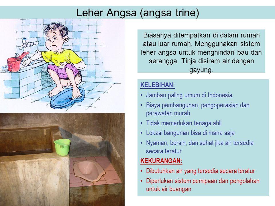 Leher Angsa (angsa trine) Biasanya ditempatkan di dalam rumah atau luar rumah. Menggunakan sistem leher angsa untuk menghindari bau dan serangga. Tinj