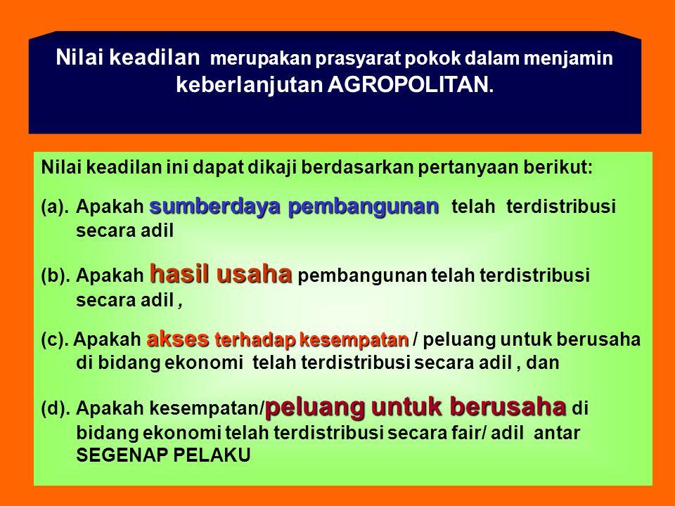 Misi AGROPOLITAN Misi AGROPOLITAN : 1. Memberdayakan masyarakat, 2.Menciptakan sistem usaha produktif yang berdaya saing tinggi, berkeadilan dan berke