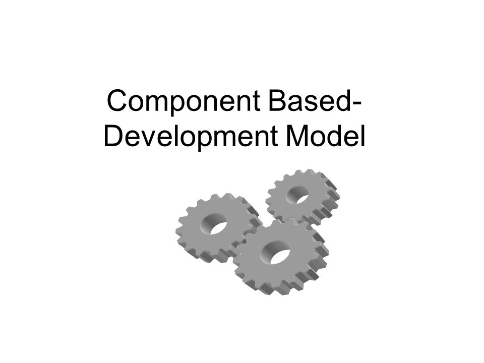 Component Based- Development Model